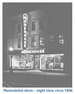HD Morehouse Night View Remodeled Store circa 1936